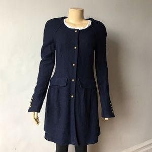 Free People Navy Blue Trench Coat Size S